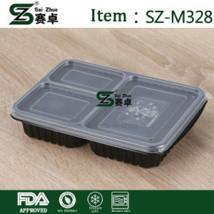 Clear Rectangular Plastic Food Container with 3 Compartment pictures & photos
