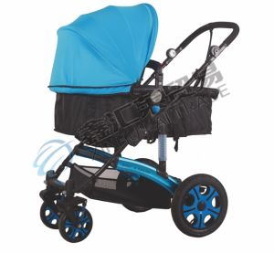 Comfortable Baby Stroller with 2 in 1 Seat & Carrycot