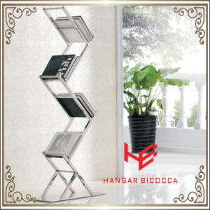 Bookcase (RS162101) Book Rack Home Shelf Bookshelf Storage Shelf File Shelf Flower Shelf Stainless Steel Furniture