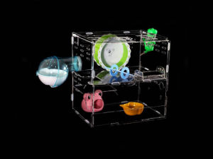 Acrylic Pet Box with Toys, Hamster Cage pictures & photos