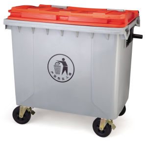 1100L Eco-Friendly Plastic Waste Bin with Two Wheels pictures & photos