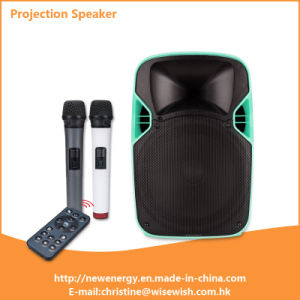Professional PA Speaker Box with LED Projector and Projection Screen