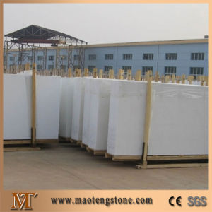Wholesale Popular Pure White Crystallized Glass Stone Slab