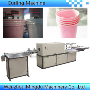 High Speed Automatic Plastic Cup Lip Rolling Making Machine pictures & photos