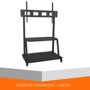 China Tv Stand Mobile Tv Cart For Flat Screen Plasma Curved Tvs