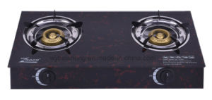 Double Burnner Gas Stove, Glass Material