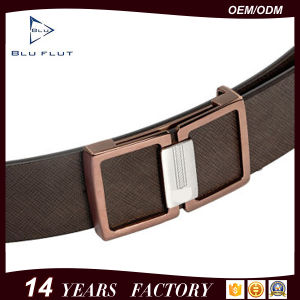 Custom Logo Metal Buckle Design Genuine Cowhide Leather Men Belts pictures & photos