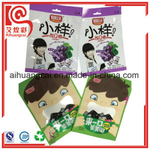 Customized Brand Three Side Sealed Plastic Bag for Soft Sweet pictures & photos