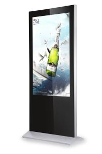 "Slim 49"" Floor Stand LCD Digital Signage Display Ad Kiosk"