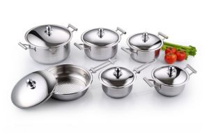 High Quality Stainless Steel Cookware Set 12PCS Kitchenware pictures & photos