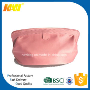 Pink PU Leather Cosmetic Bag Travel Toiletry Makeup Kit Pouch Storage Bag