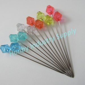 70mm Long Jujube Shape Head Sewing Quilting Pins