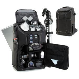 XIAMEND Canvas Messenger Bag SLR DSLR Camera Bag with Shockproof Padded Interior Vintage Shoulder Bag for Digital Cameras Color : Khaki