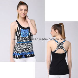 Hot Girl Sexy Camisole Tank Top Fitness with Round Neck Any Pattern