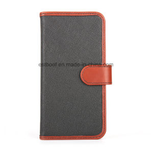Leather Phone Case with Magnet Tab for iPhone/Samsung