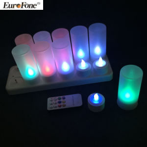 Remote RGB Rechargeable Decoration Wedding Birthday Festival LED Candle pictures & photos
