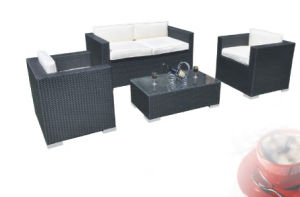 Black 4PCS Rattan Roots Outdoor Furniture