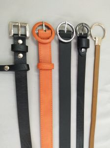 Women′s Fashion PU Belt with Ring Buckle pictures & photos