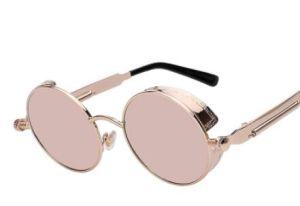 e47d34303da China Round Metal Sunglasses Steampunk Men Women Fashion Glasses ...