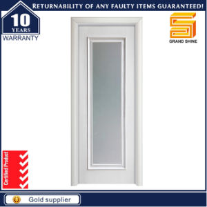Interior Modern Frosted Glass Insert Solid Wood Door Design