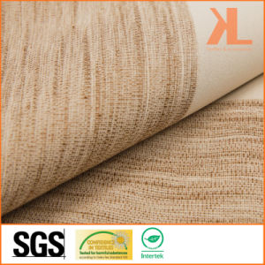 Polyester Brown Twilled Linen Look Inherently Flame Retardant Fireproof Blackout Fabric pictures & photos