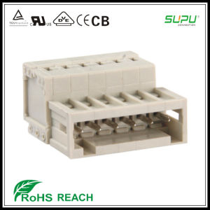 435 438 Male Terminal Blocks with Spring Cage Clamp with Fixing Flange pictures & photos