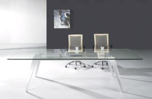 Rectangle Modern Glass Office Conference Table