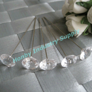 63mm Clear Plastic Diamond Head Pin for Christmas Decoration (P160219E)