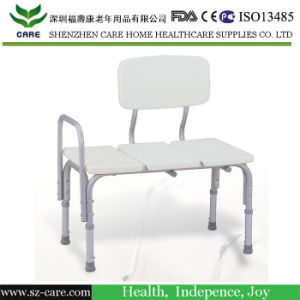 Standard Bench Height /Shower Chair/Height Adjustable/Aluminum Frame Lightweight/Designed for Disabled and Aged