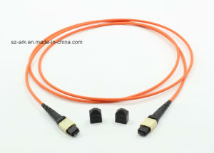 MPO-MPO mm Om1 62.5/125 12cores Optical Fiber Patchcord pictures & photos