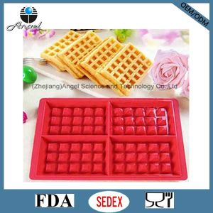 Popular Silicone Chocolate Mould for Waffle Cookie Baking Tool Sc39