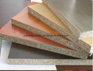 Poplar E1 Grade Melamine Faced Particle Board pictures & photos