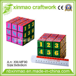 9cm Puzzle Cube with Number Logo for Toys
