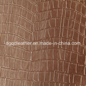 Crocodile Designs Fur Backing Semi-PU Leather (QDL-52075) pictures & photos