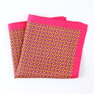 Fashionable Silk Polyester Dots Flower Printed Pocket Square Hanky Handkerchief (SH-067) pictures & photos