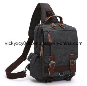 Durable Canvas Single Shoulder iPad Satchel Backpack Chest Bag (CY3657) pictures & photos