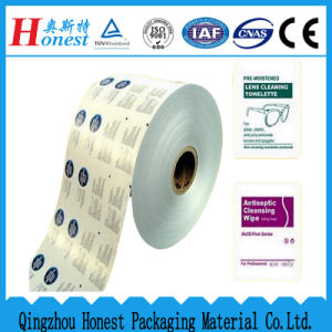 Aluminium Foil Paper for Lence Cleaning Wipe, Alcohol Swab, etc.