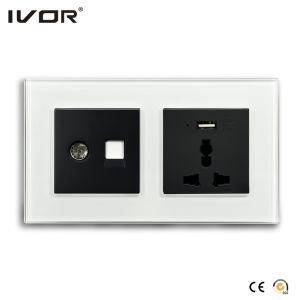 Mechanical Switch and Socket in Connect Version Brass Glaze Outline Frame pictures & photos