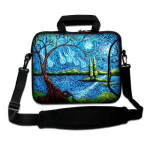 "Cool Pattern Blue Laptop Bag 13"" Neoprene Sleeve Case with Handle&Shoulder Strap pictures & photos"