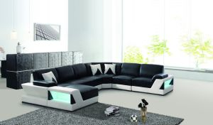 Modern Furniture Leather Corner Sofa Sectional Leather Sofa for Home Furniture