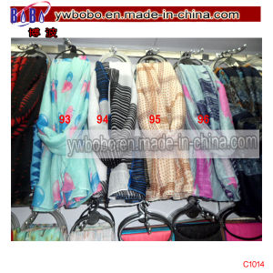 Yiwu China Market Shipping Service Polyester Scarf Stock (C1014) pictures & photos
