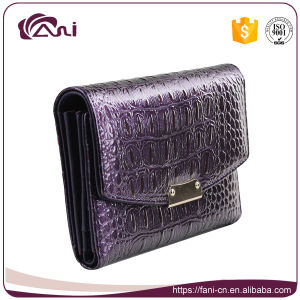 Crocodile Wallet Women, Small Genuine Leather Crocodile Grain Wallet pictures & photos