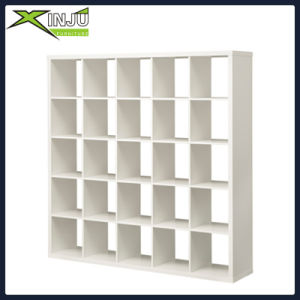 Ikea White Oak Wood/Wooden Cube Book Shelf