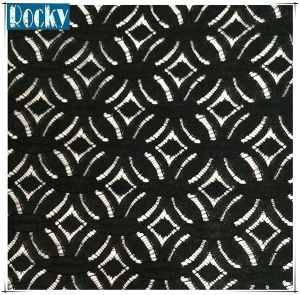 Fashion Accessories Black Knitted Cotton Fabric Lace for Women Dress