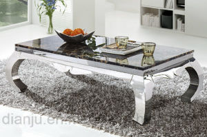 Stainless Steel Furniture Mable Top Sofa Table (CT8020)