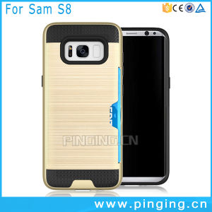 Card Slot Back Cover Phone Case for Samsung Galaxy S8 pictures & photos