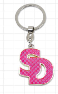 Zinc Alloy Glitter Letter Keychain for Promotion Gift (MS509A) pictures & photos