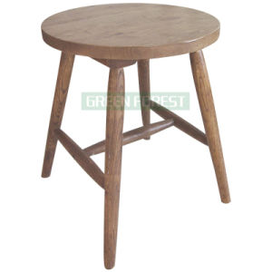Wooden Round Dining Stool (GF-D024)