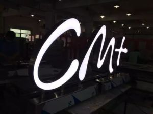 Color-Changing Brand Logo LED Acrylic Steel Fabricated Letter Vinyl Sign pictures & photos