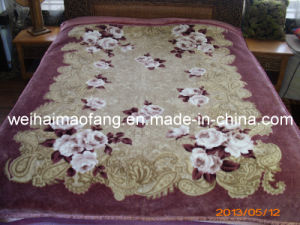 Raschel Mink Printing Acrylic Blanket (MQ-LAB001) pictures & photos